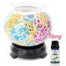 Đèn xông tinh dầu pha lê Lorganic DX0423 + Tặng 01 chai sả chanh 10ml