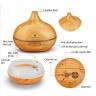 Máy khuếch tán tinh dầu giọt nước lớn gỗ vàng Lorganic FX2022+ tinh dầu sả chanh +tinh dầu bưởi + tinh dầu cam Lorganic (10ml x3)