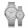 Đồng hồ cặp Julius Hàn Quốc dây thép ja-982a bạc