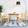 Bộ bàn ăn mặt gỗ Venus màu tự nhiên 4 ghế