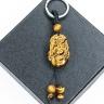 Móc khóa 12 con giáp đá mắt hổ vàng tự nhiên - Tuổi Ngọ MKTIGYNGO07 VietGemstones