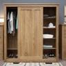 Tủ quần áo cửa lùa hai cánh lớn Torino gỗ sồi 1m8 - Cozino