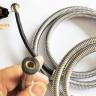 Dây sen, dây xịt vệ sinh inox chịu áp lực cao 120cm Eurolife EL-DX120 (trắng bạc)