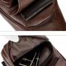 Túi đeo chéo nam da cao cấp - manzo dc002, tích hợp cổng sạc usb - tặng cáp nối dây sạc