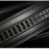 Dây nịt- thắt lưng nam da cao cấp khóa tự động cao cấp, mặt kim loại phay Manzo 202.2, BH 1 năm