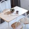 Bộ bàn ăn Windsor màu trắng 4 ghế