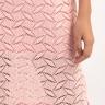 Đầm suông chất len Hàn màu hồng Angeli Phạm hàng chính hãng