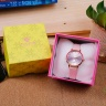 Đồng hồ nữ Julius Hàn Quốc JA-1076C dây da (hồng)