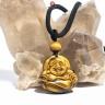 Mặt dây chuyền Phật Di Lặc đá mắt hổ vàng tự nhiên PDPDLYTE03S - VietGemstones (size em bé)