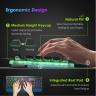 Bàn phím Membrane kim loại đèn led chuyên game VicTsing