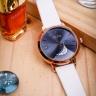 Đồng hồ nữ Julius Hàn Quốc JA-1076D dây da ( trắng)