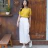 Quần culottes trắng - QD190004