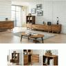 Tủ kệ sách lưu trữ Begonia gỗ cao su - Cozino
