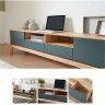 Tủ tivi Poppy gỗ cao su sơn xanh 1m8 - Cozino