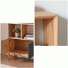 Tủ kệ sách lưu trữ Poppy gỗ cao su sơn xanh - Cozino