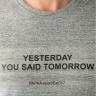 Áo tshirt thể thao Papka 1001 xám chữ đen