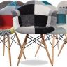 Ghế Armest bọc thổ cẩm chân gỗ màu 4