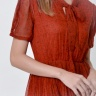 Đầm xòe thời trang Eden dập li họa tiết màu đỏ - D357