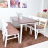 Bộ bàn ăn 6 ghế Ibie Cacao nhiều màu