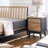 Tủ đầu giường 2 ngăn kéo NB-Blue gỗ tự nhiên