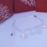 Opal lắc tay bạc hoa đính ngọc trai ovan T05