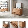 Tủ ngăn kéo Calla 6 hộc gỗ cao su (có gương trang điểm) - Cozino