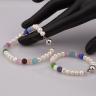 Opal - set vòng tay ngọc trai Mẹ và Bé đính đá nhiều màu_T6