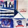 Bộ ga gối cotton sợi bông Hàn Quốc nhập khẩu Julia 215bm16