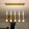Đèn thả trần hiện đại - đèn thả led sao băng - Thân Vàng - LADY019V