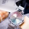 Đồng hồ nữ dây khóa nam châm chính hãng Julius Hàn Quốc JA-1166A (Bạc)