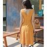 Đầm chấm bi thắt eo vintage Kimi - ad190027