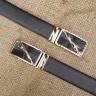 Dây nịt- thắt lưng nam khóa tự động mặt báo Manzo 240.V
