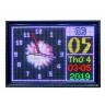 Đồng hồ treo tường led đa màu sắc có lịch âm - dương
