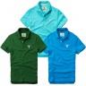 Bộ 3 áo thun nam cổ bẻ basic chuẩn mọi lứa tuổi pigofashion PG01 biển, rêu, xanh da