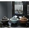 Lò gốm xông trầm cao cấp màu xanh dương 6905 - tặng kèm 10 nụ trầm hương