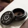 Lò xông trầm hương gốm cao cấp màu nâu - Tặng kèm 5 nhang vòng trầm hương