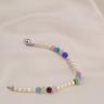 Opal - vòng tay ngọc trai mix đá pha lê nhiều màu nổi bật_T7