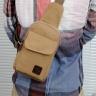 Túi đeo chéo nam nữ vải bố có lỗ tai nghe, sạc - Manzo DC001