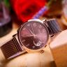 Đồng hồ nữ JA-1146D Julius Hàn Quốc dây thép (nâu)