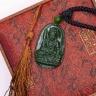 Mặt dây chuyền Văn Thù Văn Lợi Bồ Tát ngọc bích - Phật độ mạng cho người tuổi Mão - PBMNEP03 VietGemstones