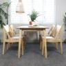 Bộ bàn ăn  6 ghế Osaka gỗ cao su màu tự nhiên - Cozino