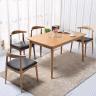 Bộ bàn ăn 6 ghế Bull gỗ cao su màu tự nhiên - Cozino