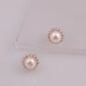 Opal - hoa tai bạc kết hợp ngọc trai trẻ trung - HT15