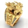 Nhẫn nam phong thủy mạ vàng 18k RM01047