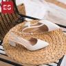 Giày nữ, giày cao gót kitten heel erosska đế vuông cao 5cm phối dây thời trang - EH021 (NU)