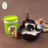 Thác khói chú tiểu áo lam bên hồ sen + 1 hộp nụ búp sen trầm hương (25 viên) 150.000đ