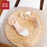 Giày nữ, giày cao gót block heel quai trong Erosska đế vuông cao 5cm phối dây thời trang - EM015 (WH)