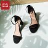 Giày nữ, giày cao gót vuông block heels Erosska hở mũi quai mảnh thời trang cao 5 phân EB004 (BA)