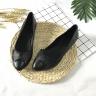 Giày bệt nữ da thật họa tiết gắn nơ GN01 Lucacy