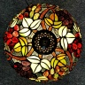 Đèn bàn trang trí Tiffany nho kép chao 30
